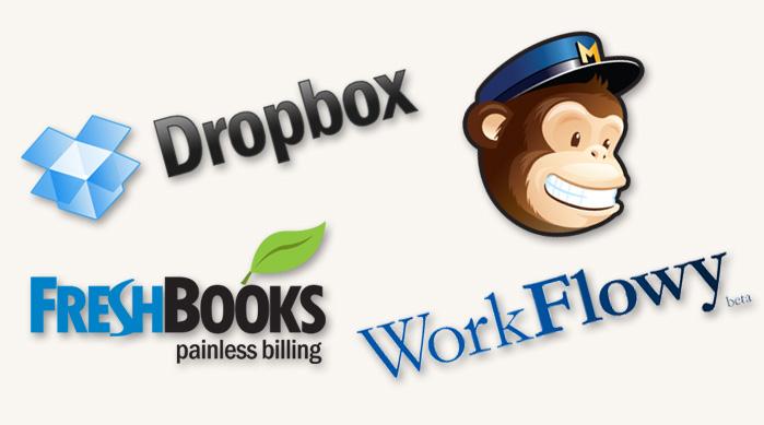 Web Apps - Dropbox, FreshBooks, WorkFlowy, MailChimp
